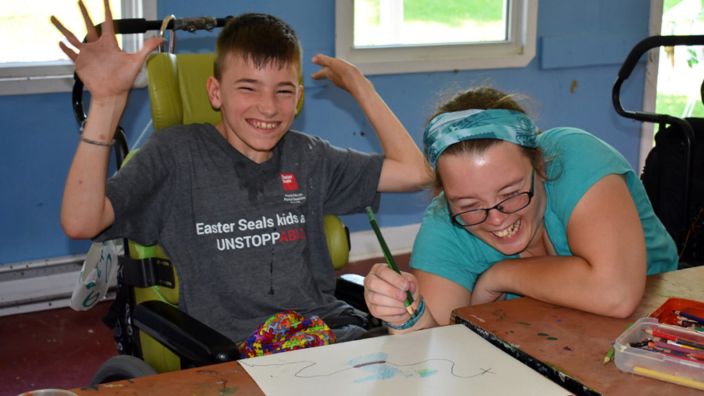 Individual Camp - Campers enjoy art projects