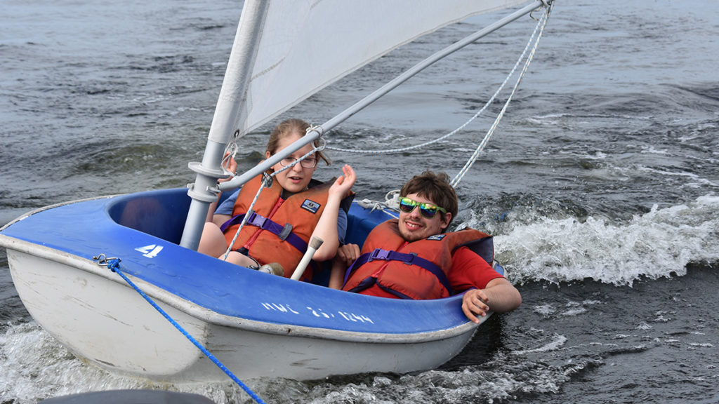 Individual Camp - Camps enjoy a small two person sail boat